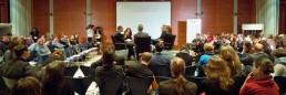 Generationstreffen 2014 diskussion podium arne lietz adriana lettrari georg diez esra kücuc